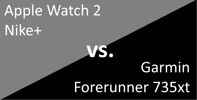 Triathlonuhr: Apple Watch 2 vs. Garmin Forerunner 735xt